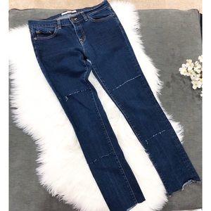 J Brand 912 Ink Pencil Leg Skinny Jeans Distressed
